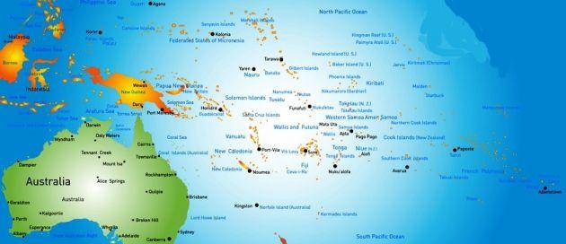 Le Pacifique, Tours du Monde, Hémisphère Austral